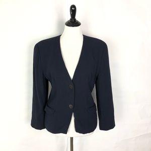 Giorgio Armani Navy Blue Blazer Suit Jacket